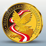 """Österreichs Gold-Jahresausgabe 2015 """"70 Jahre Frieden""""!"""